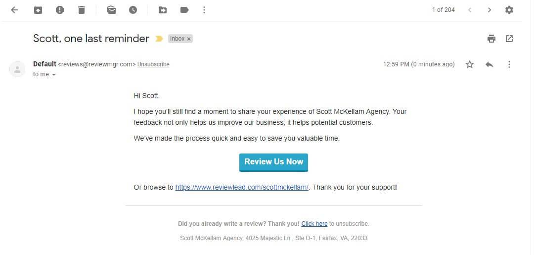 Scott McKellam Agency - Reviews